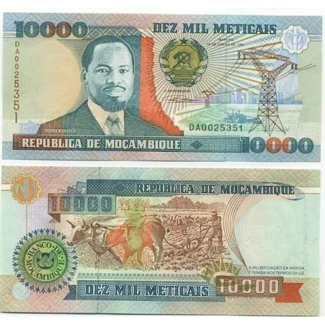 Billet de collection Mozambique Pk N° 137 - 10000 Meticais