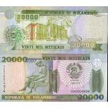 Billets de banque Mozambique Pk N° 140 - 20000 Meticais