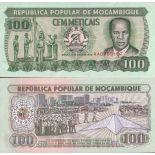 Colección de billetes Mozambique Pick número 130 - 100 Escudo