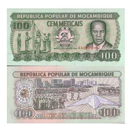 Billets de collection Billets banque Mozambique Pk N° 130 - 100 Escudos Billets du Mozambique 1,50 €