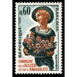 Francobolli francesi N ° 1449 Nuevo non linguellato