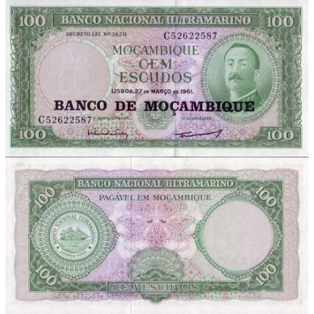 Billets collection Mozambique Pk N° 117 - 100 Escudos
