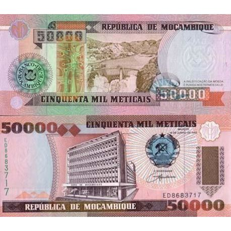 Billet de collection Mozambique Pk N° 138 - 50000 Meticais