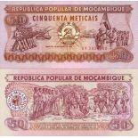 Banknote Mozambique Pick number 129 - 50 Escudo