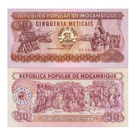 Mozambique - Pk # 129 - 50 Note Meticais