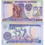 Colección de billetes Mozambique Pick número 134 - 500 Escudo