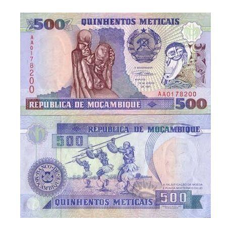 Billets de collection Billets de banque Mozambique Pk N° 134 - 500 Meticais Billets du Mozambique 6,00 €