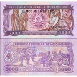 Precioso de billetes Mozambique Pick número 133 - 5000 Escudo