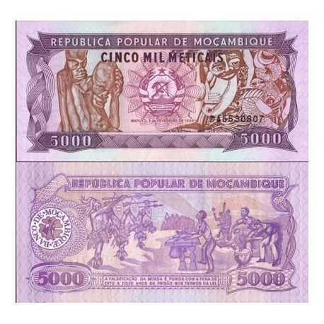 Billets collection Mozambique Pk N° 133 - 5000 Meticais