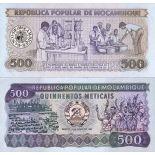 Banknoten Sammlung Mosambik Pick Nummer 131 - 500 Escudo