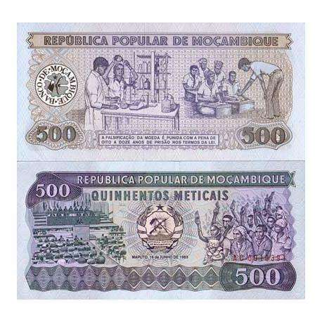 Billets de collection Billet de banque Mozambique Pk N° 131 - 500 Meticais Billets du Mozambique 4,00 €