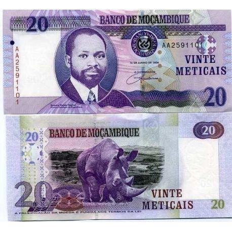 Billets de collection Billets banque Mozambique Pk N° 143 - 20 Meticais Billets du Mozambique 6,00 €