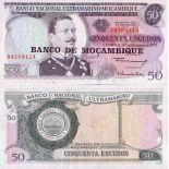 Precioso de billetes Mozambique Pick número 116 - 50 Escudo