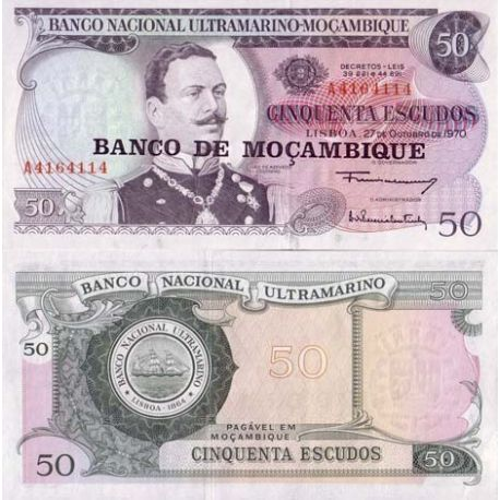 Billet de collection Mozambique Pk N° 116 - 50 Escudos