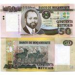 Bello banconote Mozambico Pick numero 144 - 50 Escudo