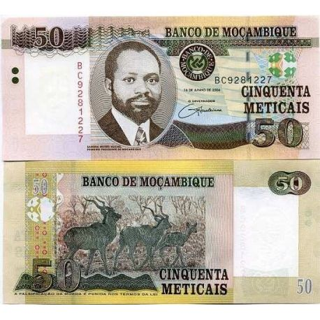 Mozambique - Pk # 144 - 50 Note Meticais