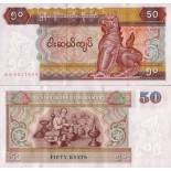 Sammlung von Banknoten Myanmar Pick Nummer 73 - 50 Kyat