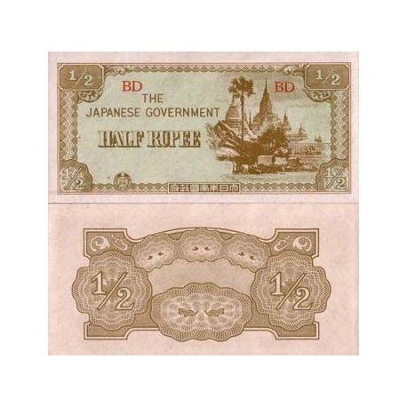 Myanmar - Pk N° 13 - Billet de 1/2 Rupee
