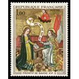 Francobolli francesi N ° 1640 Nuevo non linguellato