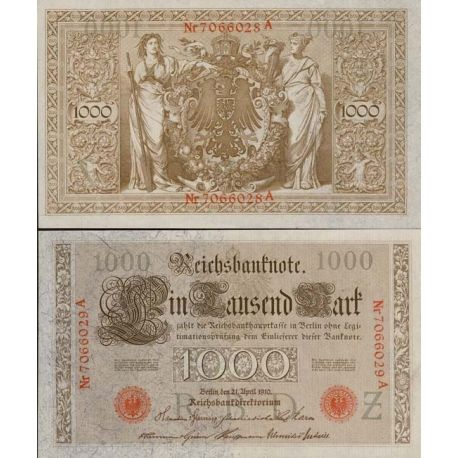 Billet Allemagne collection Pk N° 45 1000 Mark