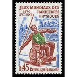 Francobolli francesi N ° 1649 Nuevo non linguellato
