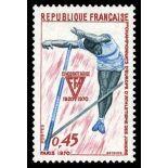 Francobolli francesi N ° 1650 Nuevo non linguellato