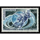 Francobolli francesi N ° 1665 Nuevo non linguellato