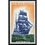 Francobolli francesi N ° 1717 Nuevo non linguellato