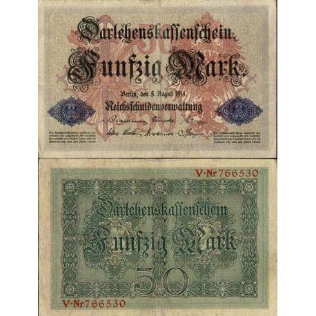Billet de banque Allemagne Pk N° 49 - 50 Mark