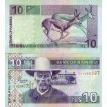 Banknoten Sammlung Namibia Pick Nummer 4 - 10 Dollar
