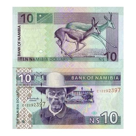 Billet de collection Namibie Pk N° 4 - 10 Dollars