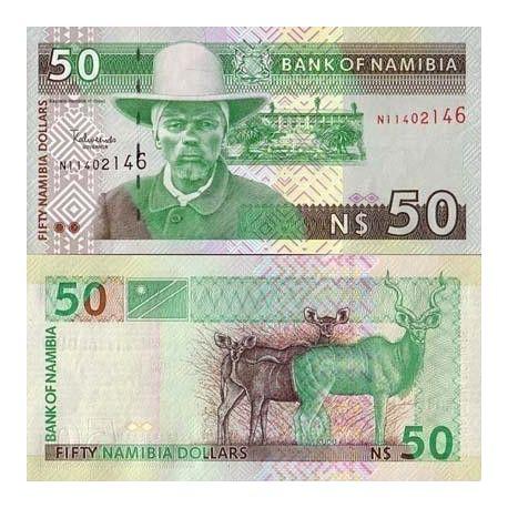 Billets de banque Namibie Pk N° 7 - 50 Dollars
