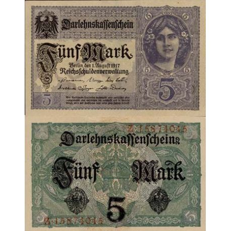 Billet de collection Allemagne Pk N° 56 5 Mark