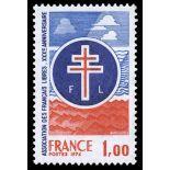 Francobolli francesi N ° 1885 Nuevo non linguellato