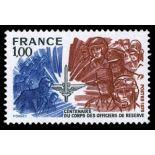 Francobolli francesi N ° 1890 Nuevo non linguellato