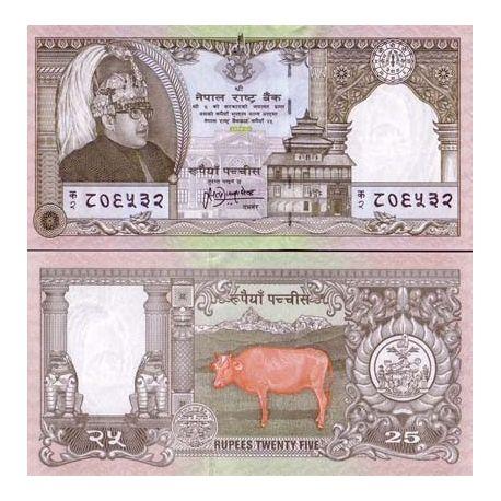 Billets de banque Nepal Pk N° 41 - 25 Ruppee