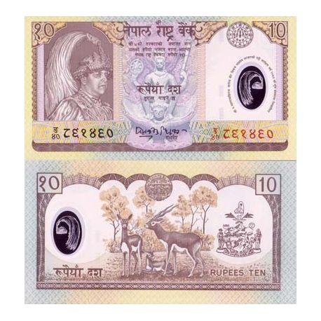 Billet de collection Nepal Pk N° 54 - 10 Rupees