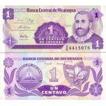 Colección Billetes Nicaragua Pick número 167 - 1 Cordoba