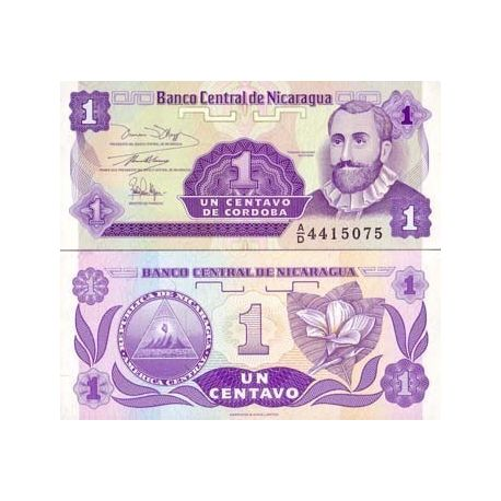 Billets de collection Billets de banque Nicaragua Pk N° 167 - 1 Centavo Billets du Nicaragua 1,00 €