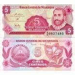 Billets banque Nicaragua Pk N° 168 - 5 Centavo