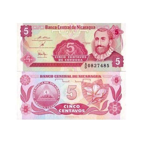 Billets de collection Billets banque Nicaragua Pk N° 168 - 5 Centavo Billets du Nicaragua 1,00 €