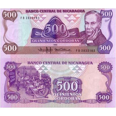 Billets de collection Billet de collection Nicaragua Pk N° 155 - 500 Cordobas Billets du Nicaragua 4,00 €