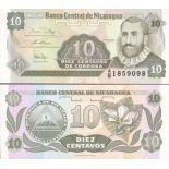 Billet de banque Nicaragua Pk N° 169 - 10 Centavo