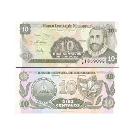 Billets de collection Billet de banque Nicaragua Pk N° 169 - 10 Centavo Billets du Nicaragua 1,00 €