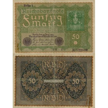 Allemagne - Pk N° 66 - Billet de 50 Mark