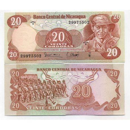 Nicaragua - Pk N° 135 - Billet de 20 Cordoba