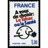 Francobolli francesi N ° 2080 Nuevo non linguellato