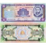 Collection of Banknote Nicaragua Pick number 179 - 1 Cordoba