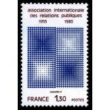 Francobolli francesi N ° 2091 Nuevo non linguellato