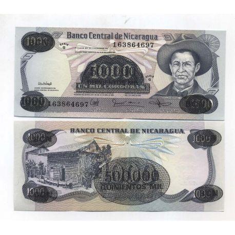Billets de collection Billets collection Nicaragua Pk N° 150 - 500000 sur 1000 Cordoba Billets du Nicaragua 3,00 €